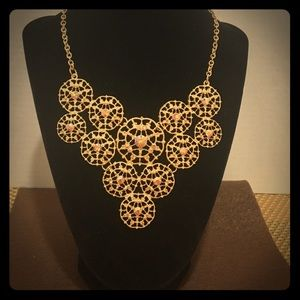 Charming Charlie gold crystal necklace